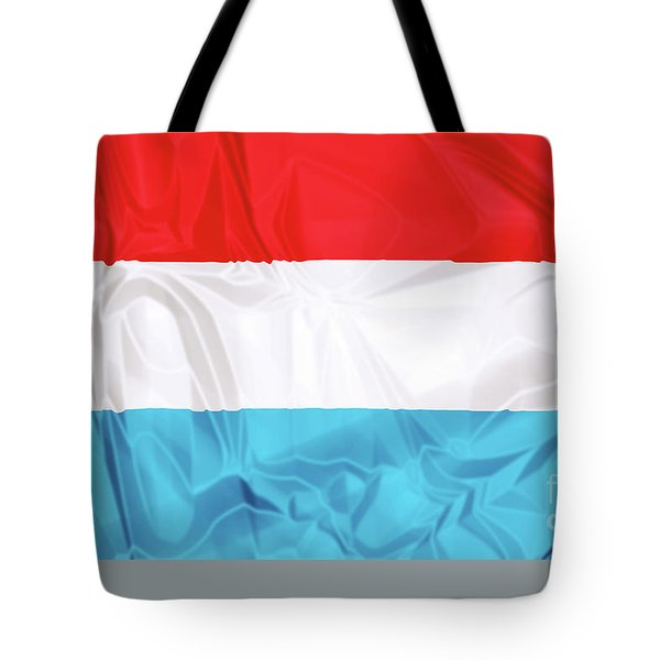 Tote Bag featuring the digital art Flag Of Luxembourg by Benny Marty