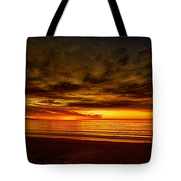 Tote Bag featuring the photograph Flaming Sunset by Joseph Hollingsworth