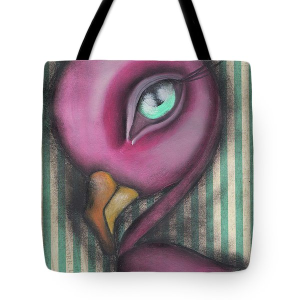 Flamingo Tote Bag by Abril Andrade Griffith