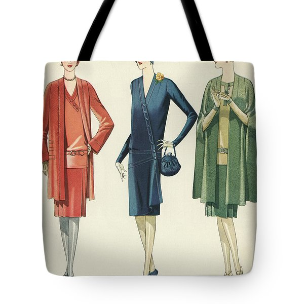 Flappers In Frocks And Coats, 1928 Tote Bag