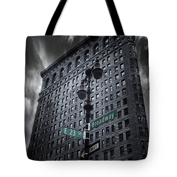 Tote Bag featuring the photograph Flatiron Noir by Jessica Jenney