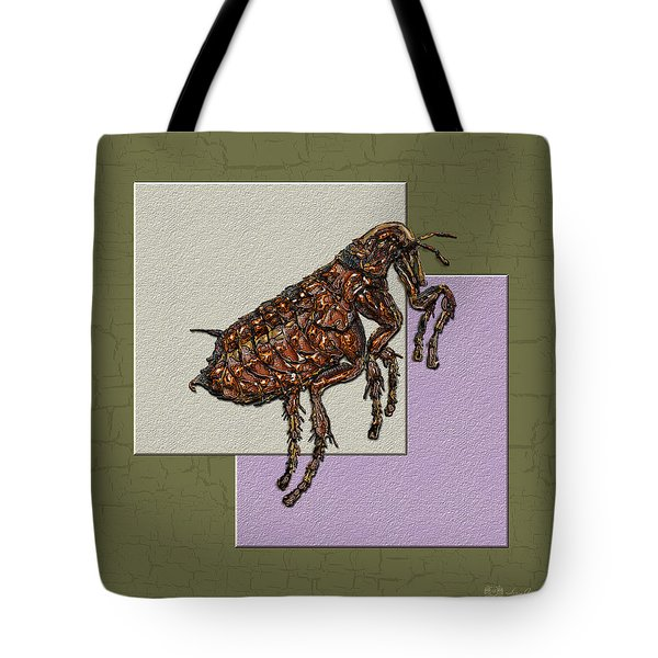 Flea On Abstract Beige Lavender And Dark Khaki Tote Bag