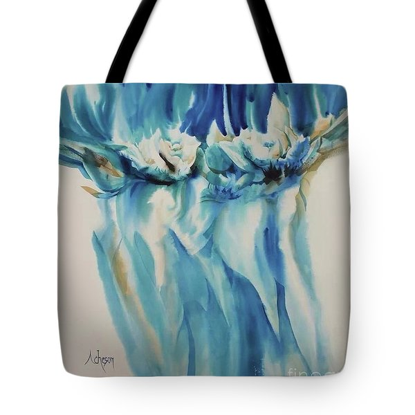 Floating Flowers Tote Bag by Donna Acheson-Juillet