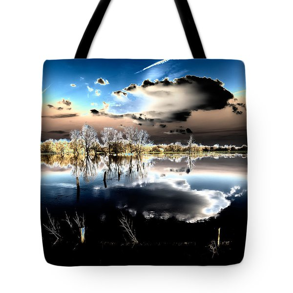 Tote Bag featuring the photograph Flooded Land by Hans Engbers