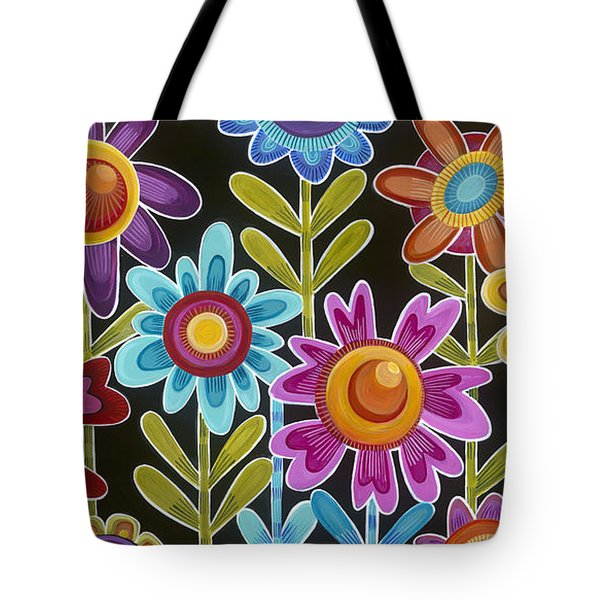 Tote Bag featuring the painting Flower Power by Carla Bank