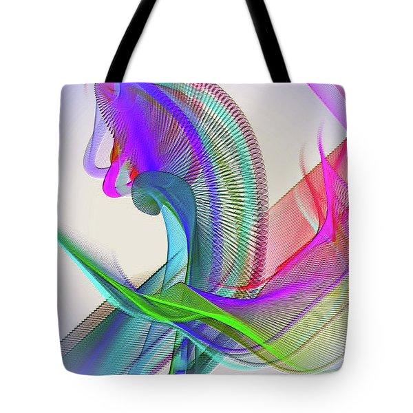 Tote Bag featuring the digital art Flower Vase by Visual Artist Frank Bonilla