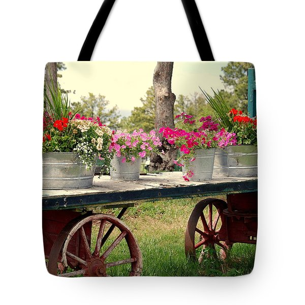 Flower Wagon Tote Bag by Susanne Van Hulst