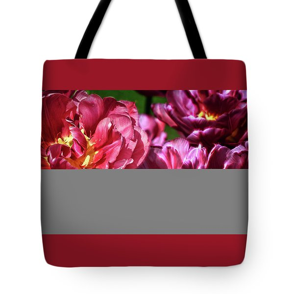 Flowers And Fractals Tote Bag