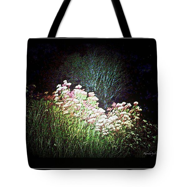 Flowers At Night Tote Bag