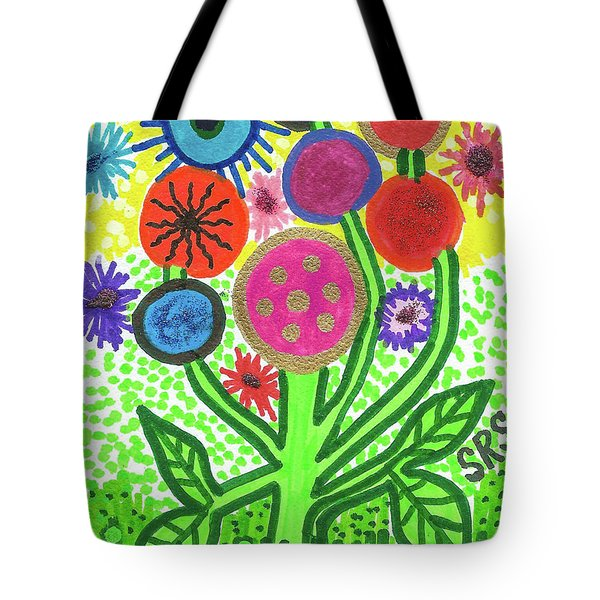 Flowers In The Round 9.7 Tote Bag