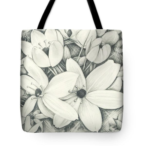 Flowers Pencil Tote Bag