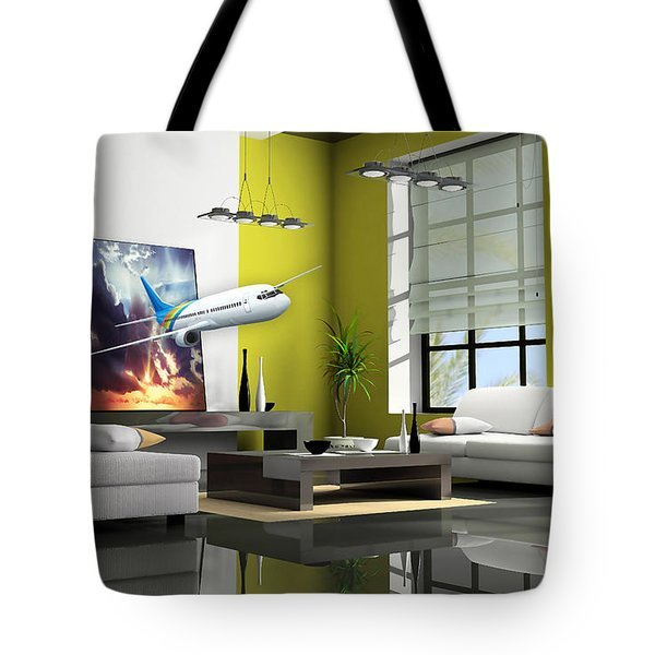 Fly The Friendly Skies Art Tote Bag by Marvin Blaine