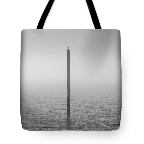 Fog On The Cape Fear River Tote Bag