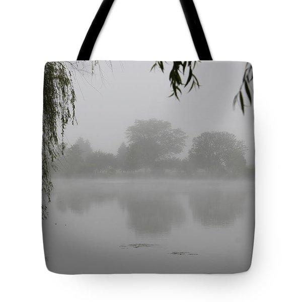 Fog On The Pond Tote Bag