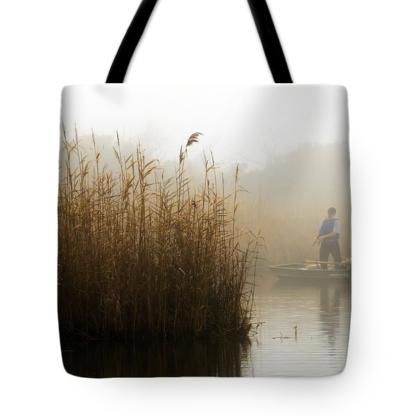 Foggy Fishing Tote Bag