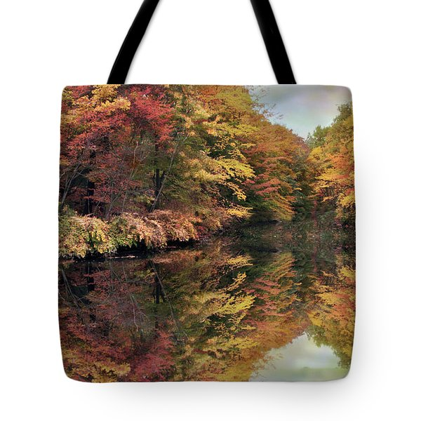 Tote Bag featuring the photograph Foliage Reflections by Jessica Jenney