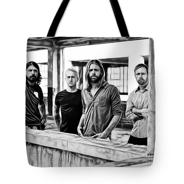 Foo Fighters Collection Tote Bag by Marvin Blaine