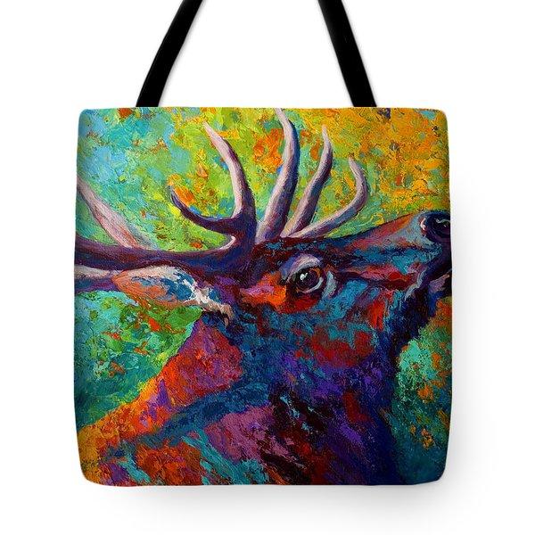 Forest Echo - Bull Elk Tote Bag