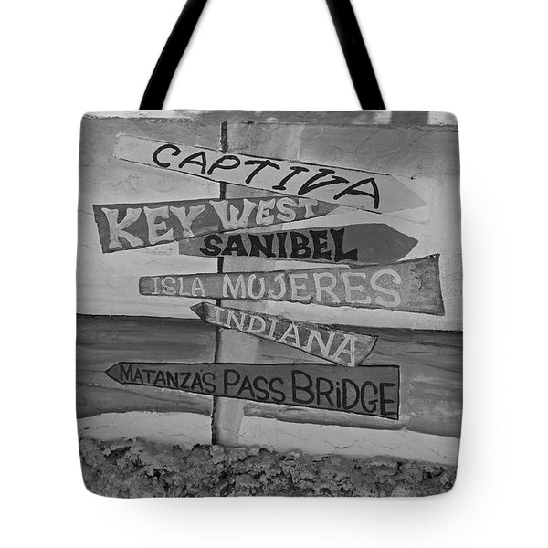 Fort Myers Beach Mural Tote Bag