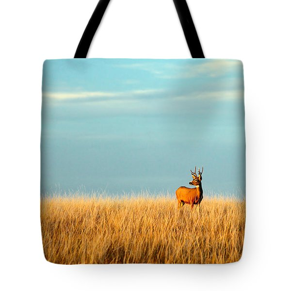 Fort Peck Buck Tote Bag