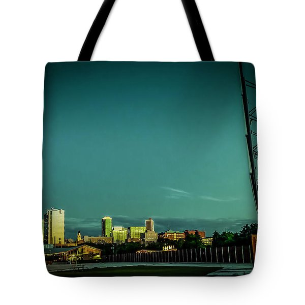 Fortworth Texas Cityscape Tote Bag