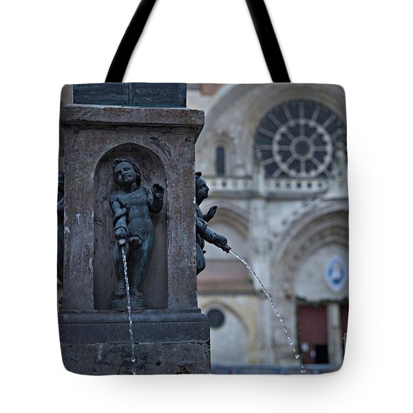 Tote Bag featuring the photograph Fountain by Cendrine Marrouat