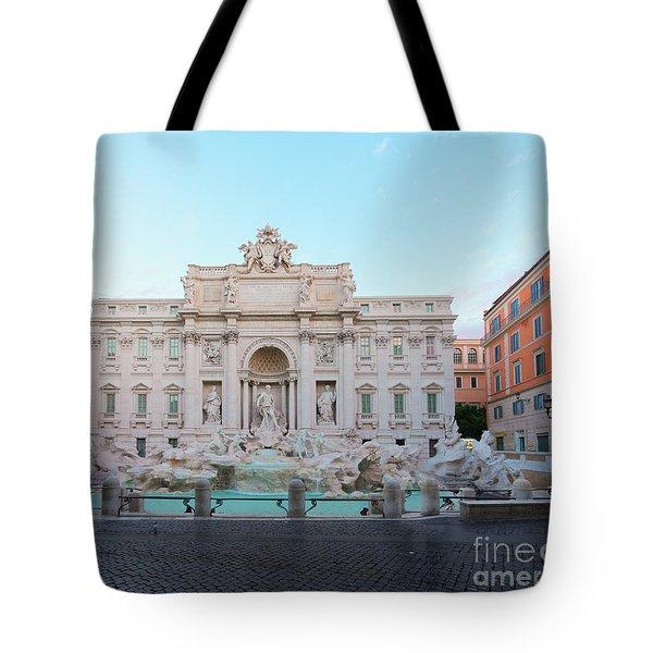 Fountain Di Trevi And Sunrise, Rome Tote Bag by Anastasy Yarmolovich