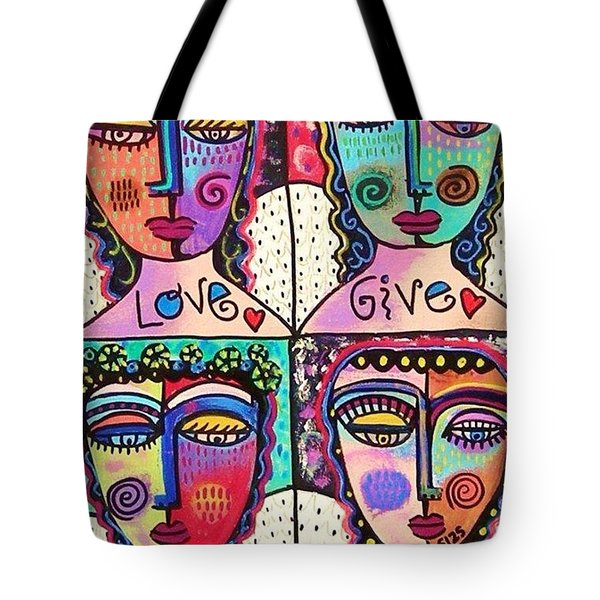 Four Gemstone Angels  Tote Bag