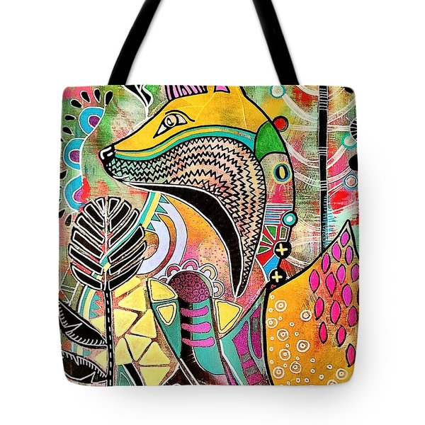 Tote Bag featuring the painting Fox by Amy Sorrell