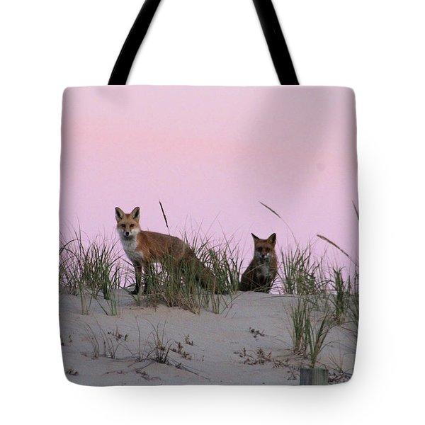 Fox And Vixen Tote Bag