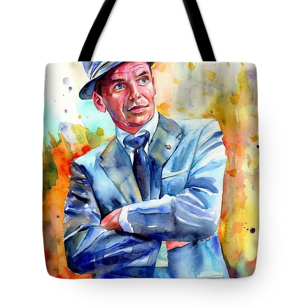 Frank Sinatra Young Painting Tote Bag