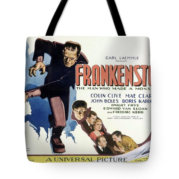 Frankenstein 1931 Tote Bag