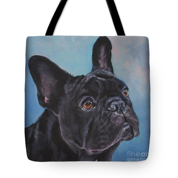 Tote Bag featuring the painting French Bulldog by Lee Ann Shepard