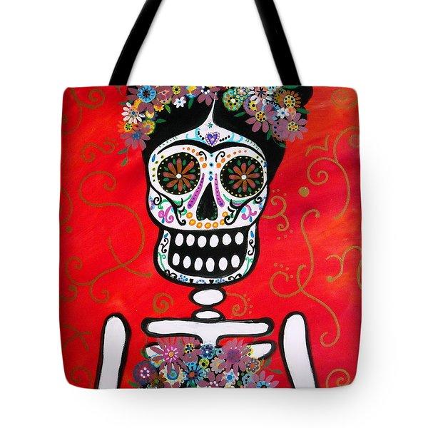 Frida Dia De Los Muertos Tote Bag