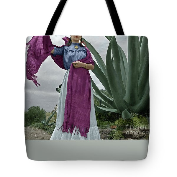 Tote Bag featuring the photograph Frida Kahlo by Granger