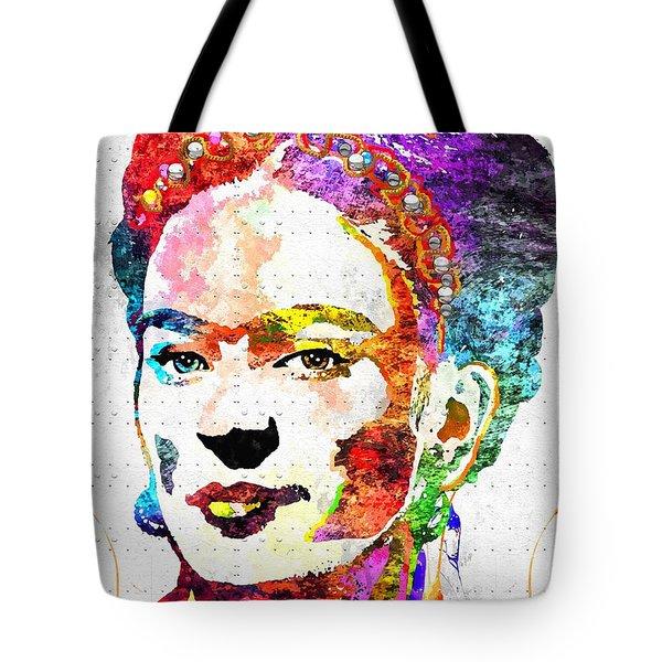 Frida Kahlo Grunge Tote Bag by Daniel Janda