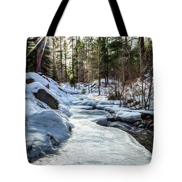 Frozen Creek Tote Bag
