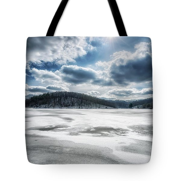 Frozen Lake Tote Bag by Thomas R Fletcher