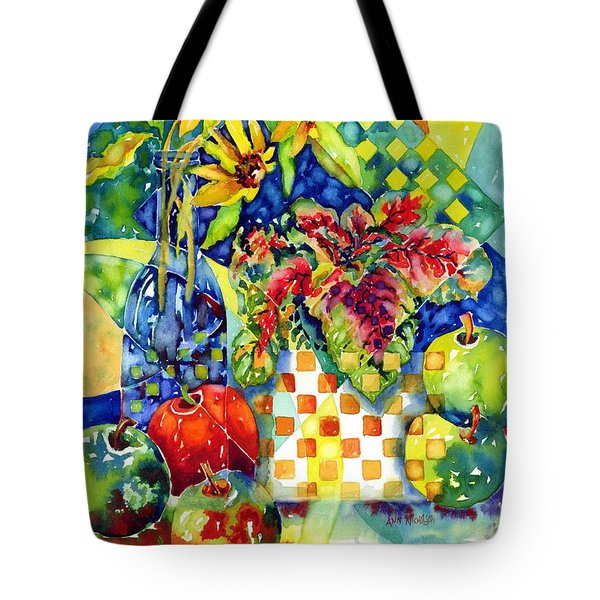 Fruit And Coleus Tote Bag