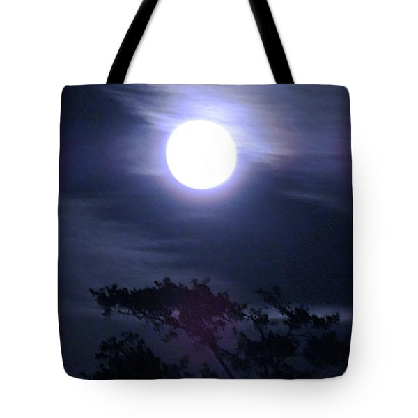 Full Moon Falling Tote Bag