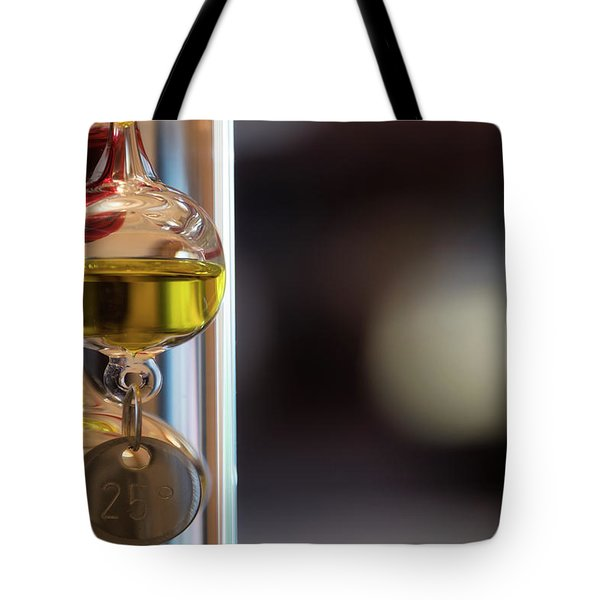 Tote Bag featuring the photograph Galileo Thermometer by Jeremy Lavender Photography