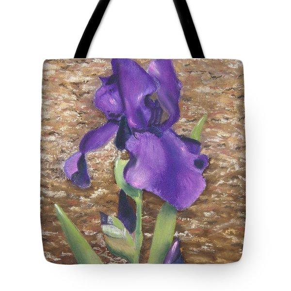 Garden Iris Tote Bag