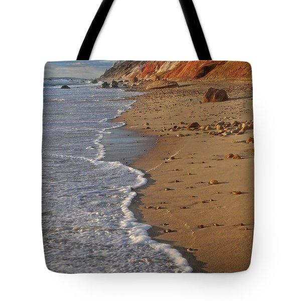Gayhead Cliffs Marthas Vineyard Tote Bag