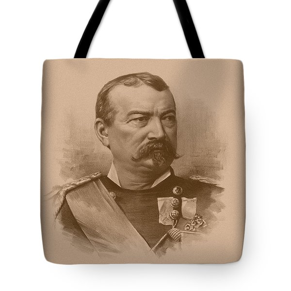 Tote Bag featuring the drawing General Philip Sheridan by War Is Hell Store