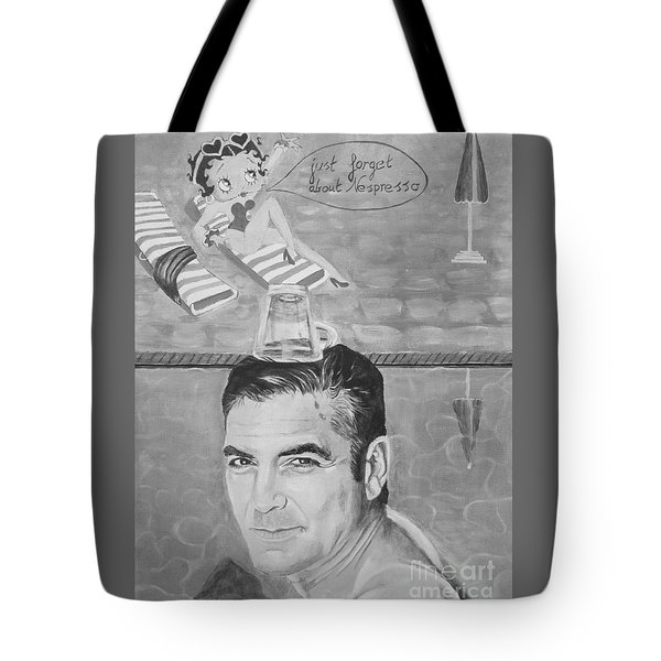 Tote Bag featuring the painting George Clooney by Jeepee Aero