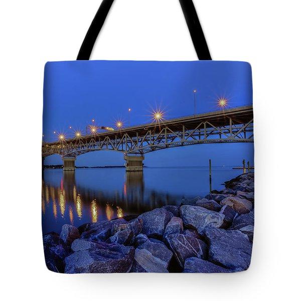 George P. Coleman Bridge Tote Bag