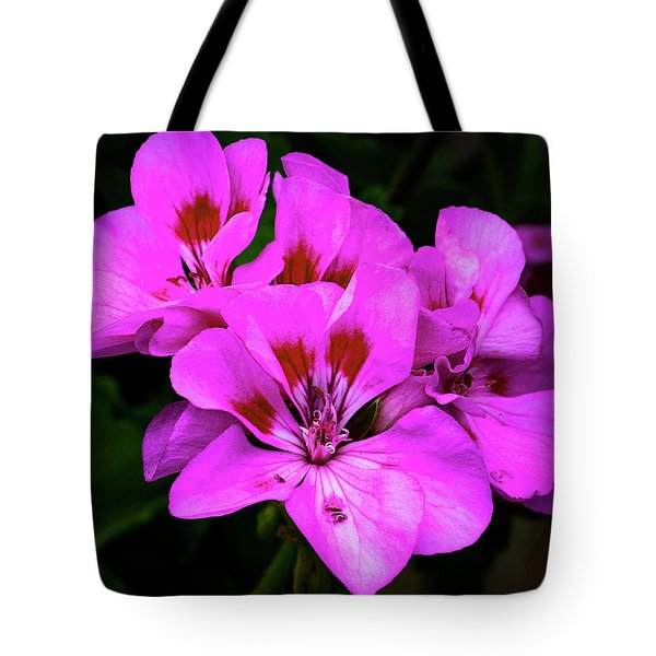 Tote Bag featuring the photograph Geranium by Michael Friedman