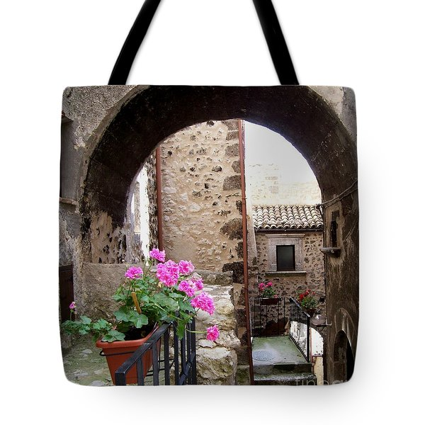Tote Bag featuring the photograph Geraniums by Judy Kirouac
