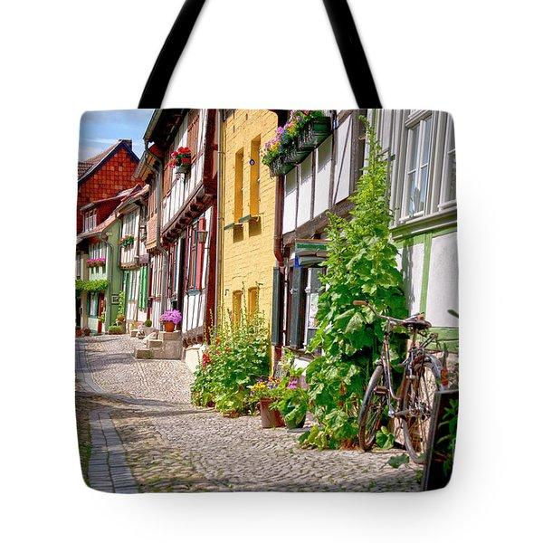 German Old Village Quedlinburg Tote Bag