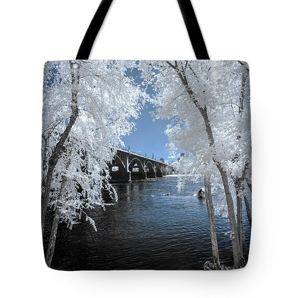 Gervais St. Bridge In Surreal Light Tote Bag